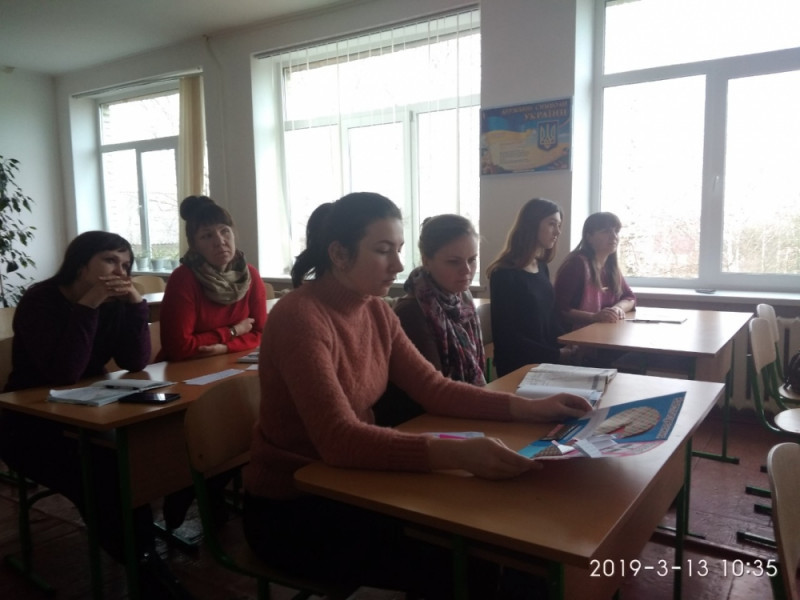 У Ратному відбулося засідання школи молодого вчителя хімії