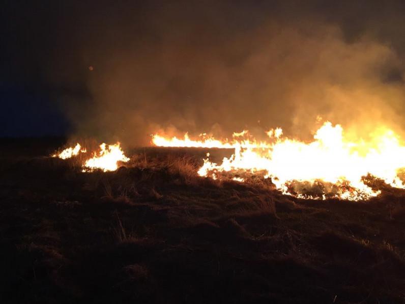 На Ратнівщині горіла суха трава та чагарники
