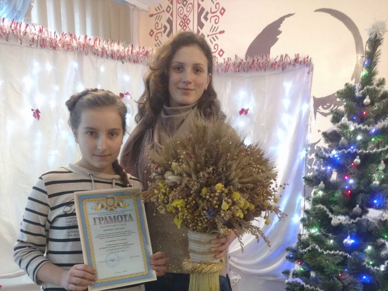 Велимченська школярка здобула перемогу в обласному конкурсі різдвяно-новорічної атрибутики