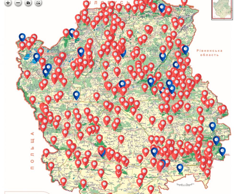 Інтегрована мапа Волині