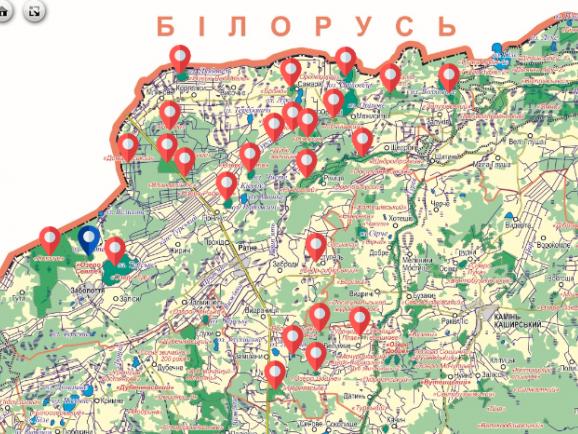 Скріншот інтегрованої карти