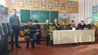 Школярі виконують пісню