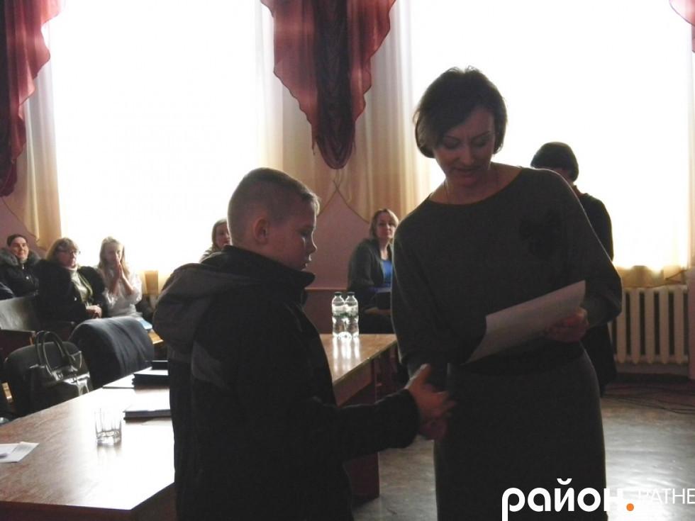 Нагородження учасника конкурсу