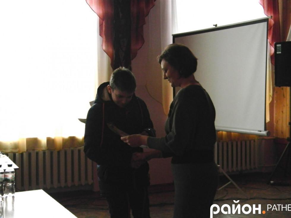 Нагородження призера конкурсу