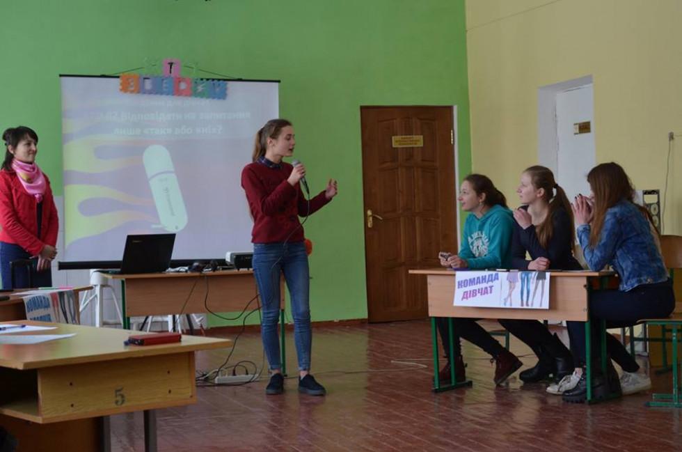 Команда дівчат у шоу «Хто зверху»