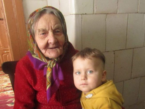 Уляна Борисівна зі своїх внуком