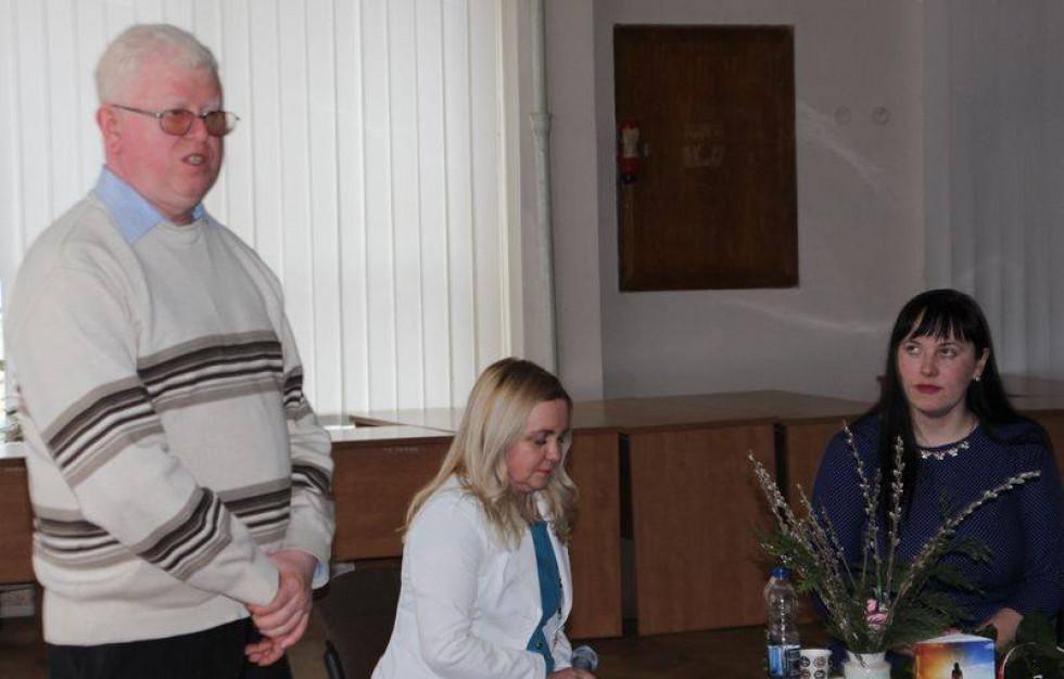 Андрій Криштальський під час презентації повісті «Неопалима»