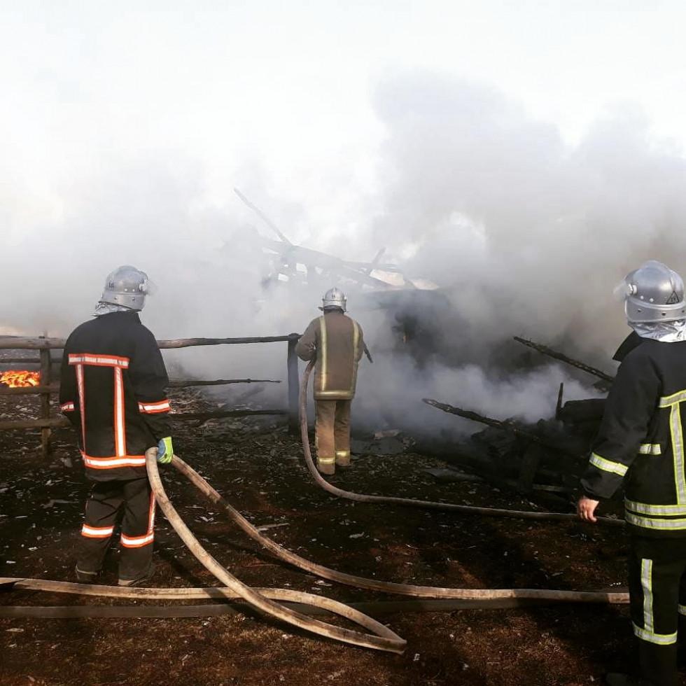 Пожежники ліквідовують вогонь