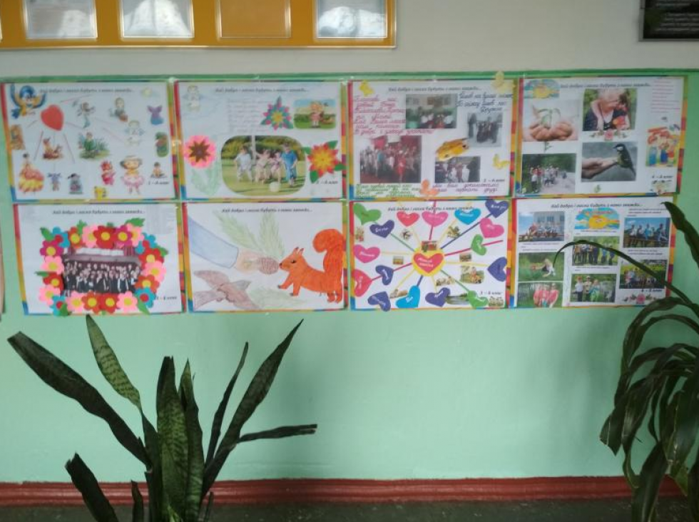 Виставка плакатів учнів 1-4 класів «Хай добро та ласка будуть з нами завжди»