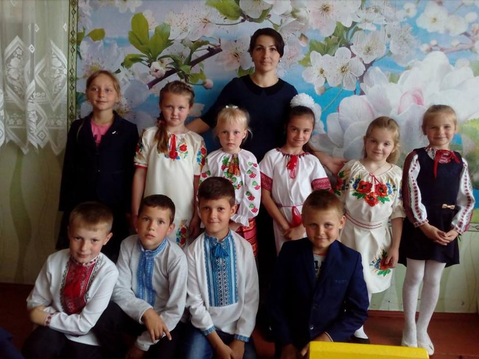 Школярі села Сільце