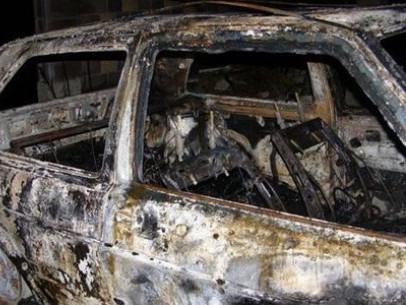Згорілий автомобіль