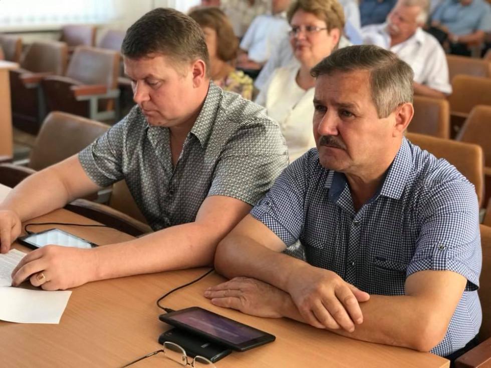 Учасники засідання районної ради