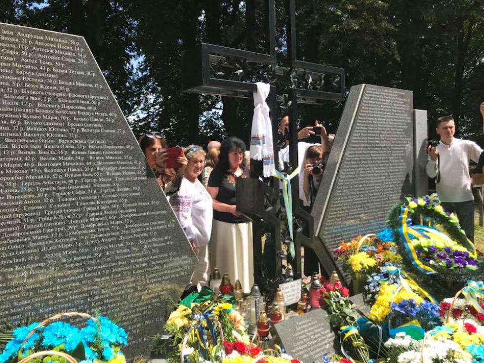 Меморіал пам'яті українців, які загинули від рук польських «селянських батальйонів» та підрозділів Армії Крайової у 1944 році