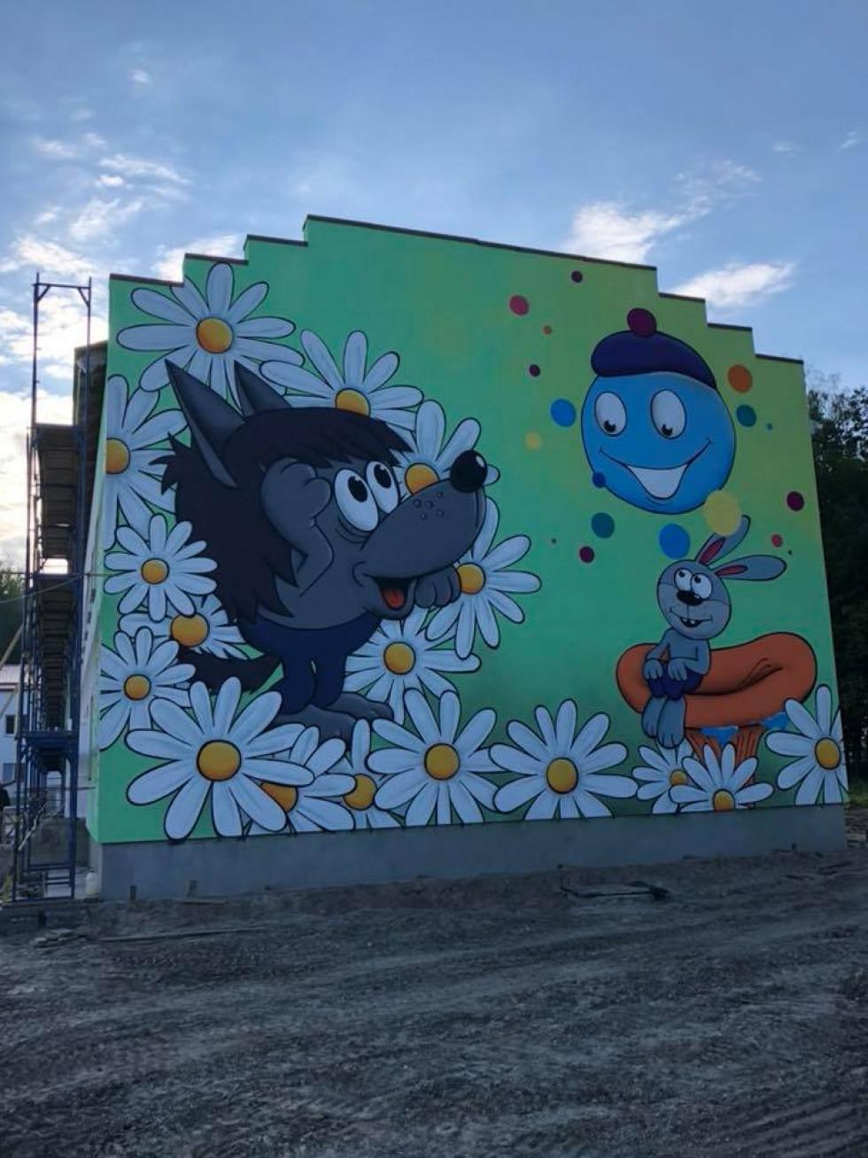 ерої мультфільму «Капітошка» уже красуються на стіні новобудови