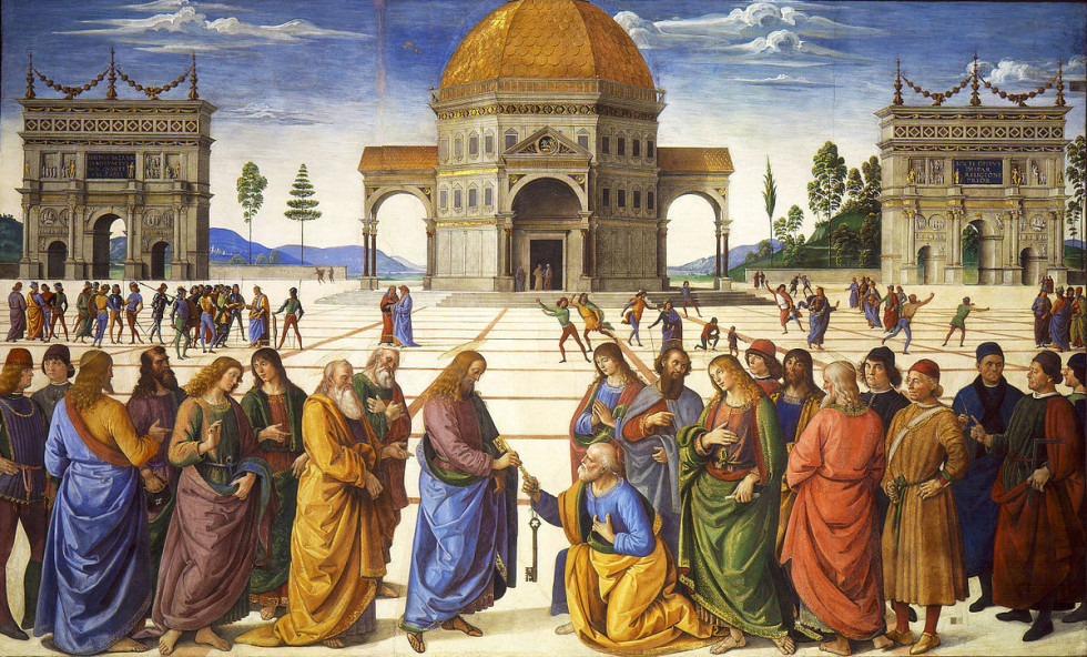 П'єтро Перуджино, Вручення ключів апостолу Петру