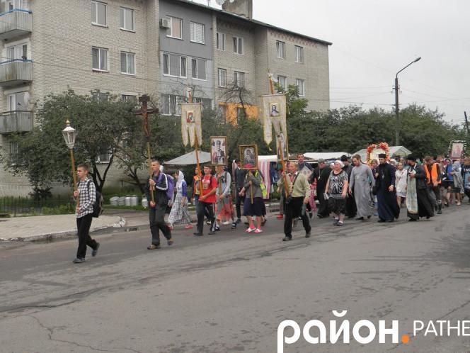 На Ратнівщині розпочався хресний хід до Почаєва
