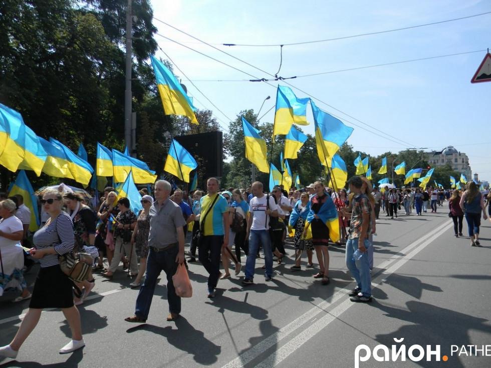 Ратнівчани долучилися до хресного ходу у Києві