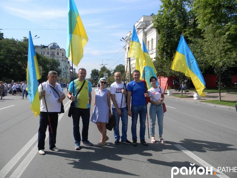 Делегація із Ратнівщини, яка приєдналася до хресного ходу у Києві