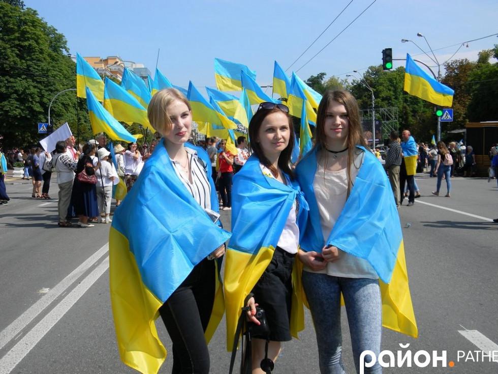 Ратнівчанки під час Державного заходу у Києві