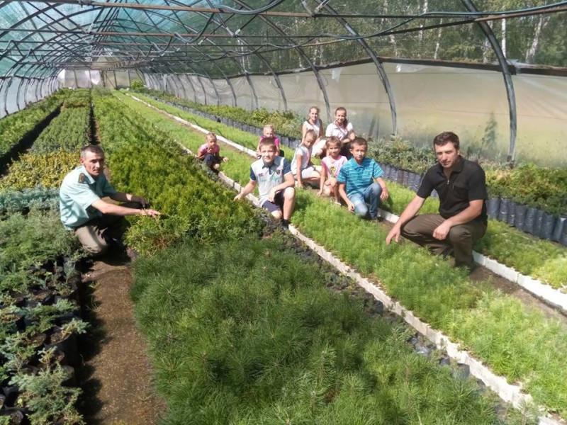 Гірницькі школярі побували на екскурсії у розсаднику