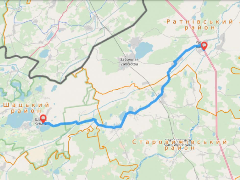 Дорога Ратне-Шацьк