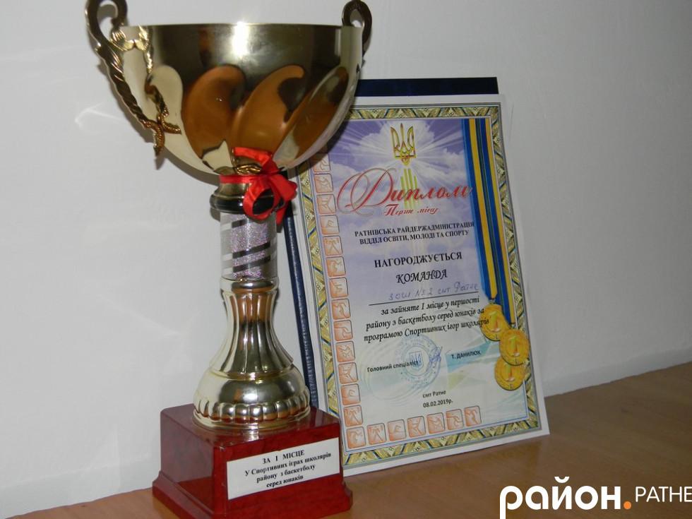 Нагороди збірної баскетболу школи №2