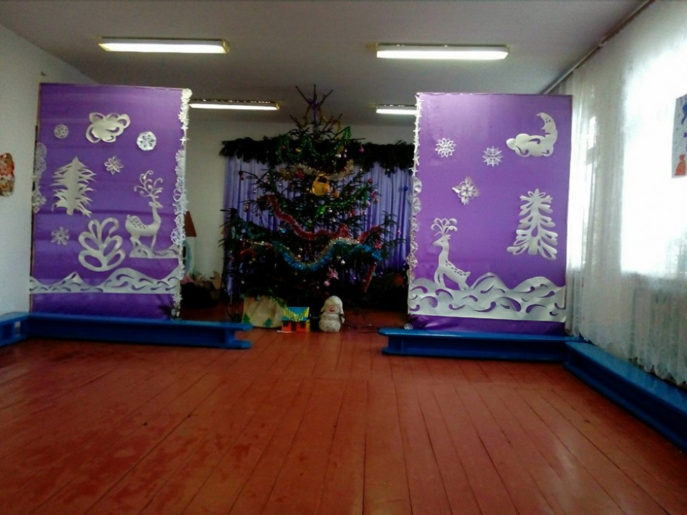 Новорічний зал сілецької школи