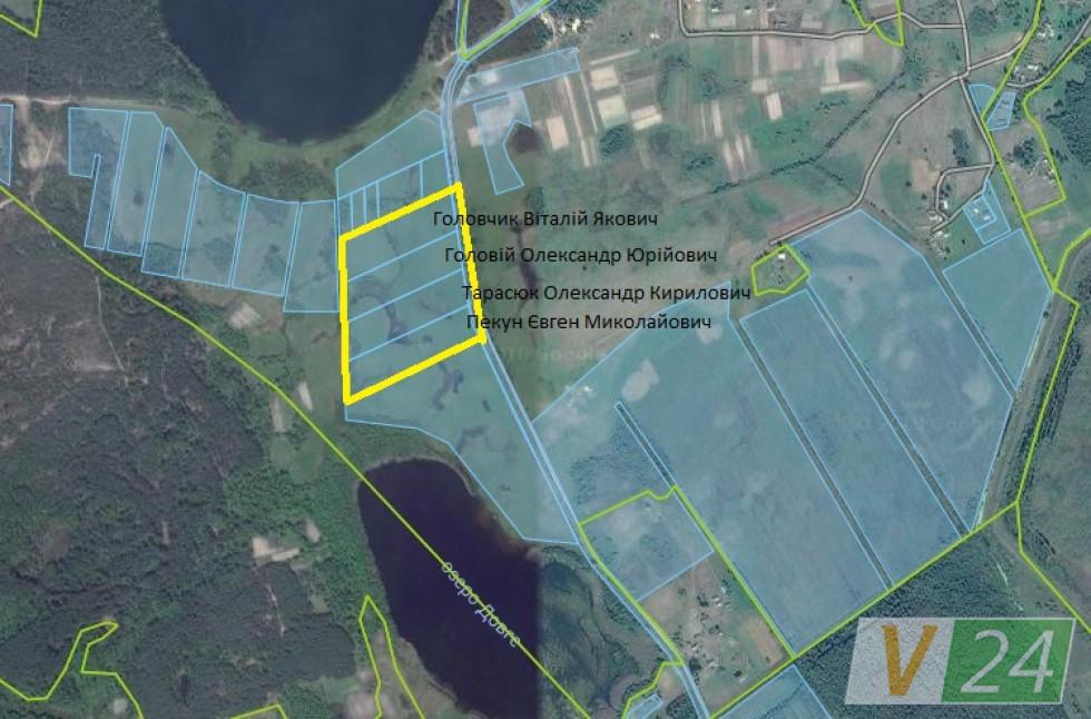 Мапа, на якій зображені земельні ділянки поліцейських