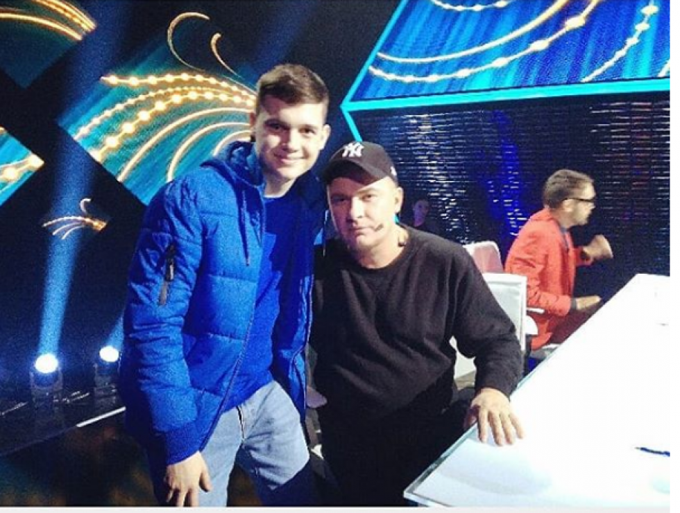 Тарас із Андрієм Данилко